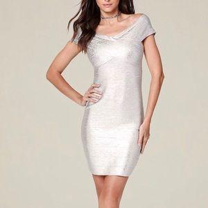 06878343280 Women s Gold Bandage Dress on Poshmark